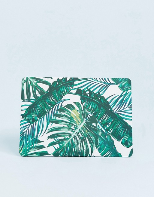 Image 1 of Coconut Lane palm leaf macbook case 13 inch