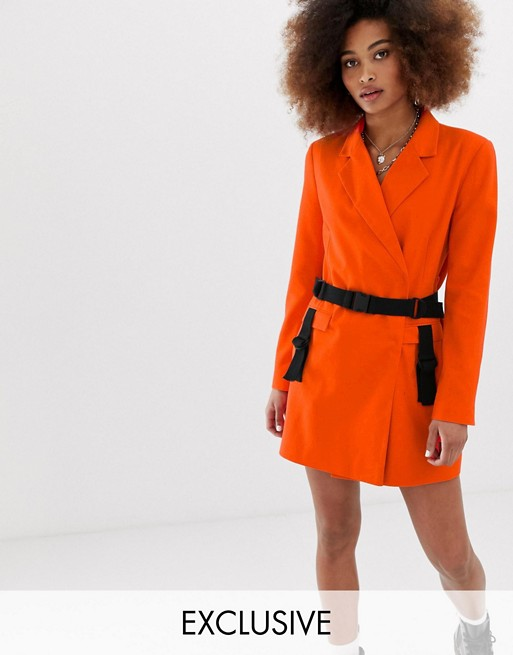 COLLUSION blazer dress with utility details