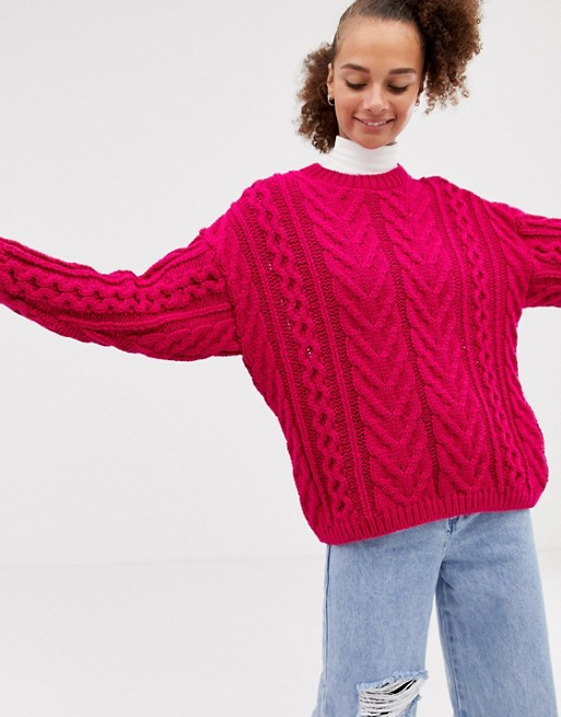 COLLUSION cable knit sweater