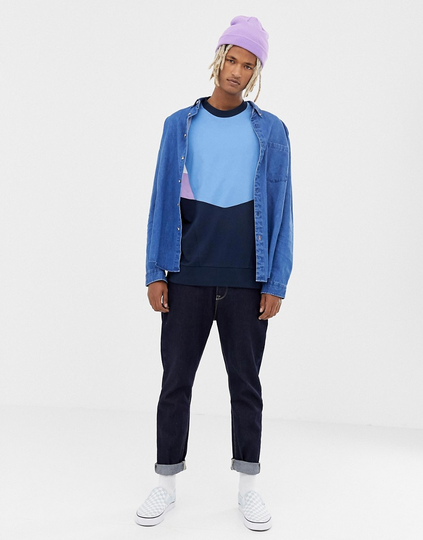 Collusion Cut And Sew Long Sleeve T Shirt by Collusion
