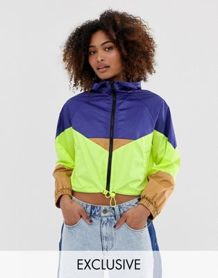 Image 1 of COLLUSION light weight color block tech jacket