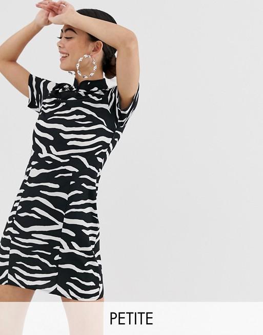 COLLUSION - Petite jurk met zebraprint