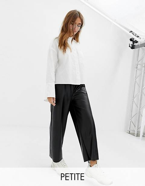 COLLUSION Petite leather look pants