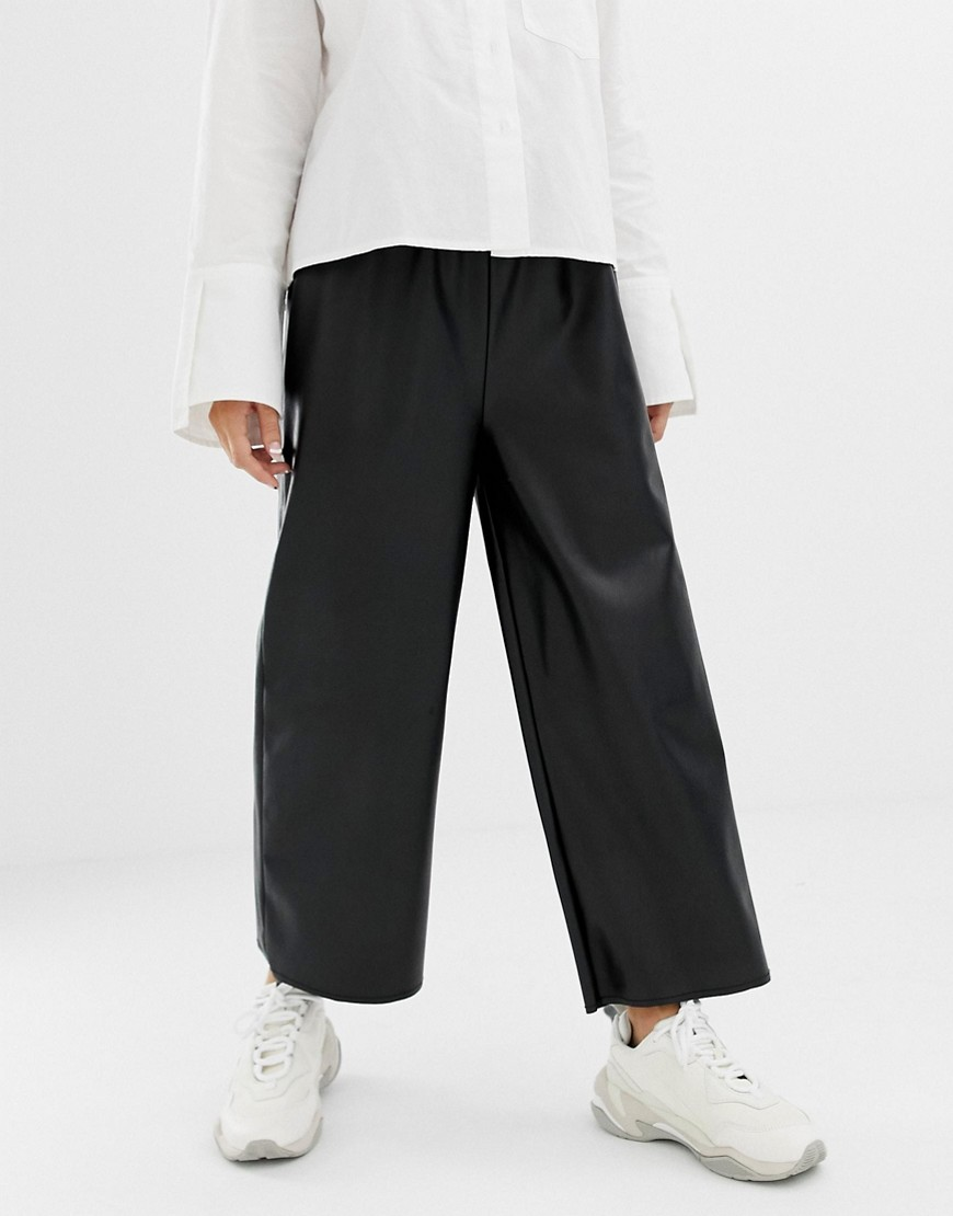 Collusion Petite Leather Look Pants by Collusion
