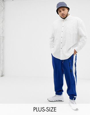 COLLUSION Plus oversized oxford shirt in white