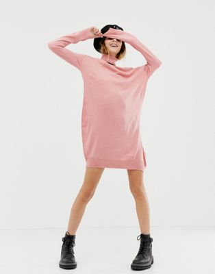 COLLUSION roll neck jumper dress