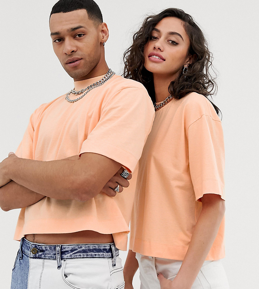 Collusion t shirt crop top unisexe orange