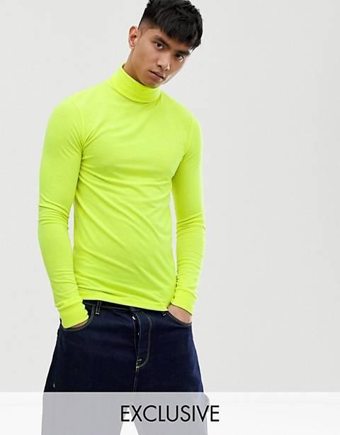 COLLUSION - T-shirt fluo à col roulé