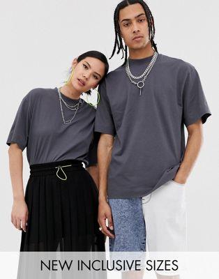 COLLUSION – Unisex – Svartgrå t-shirt