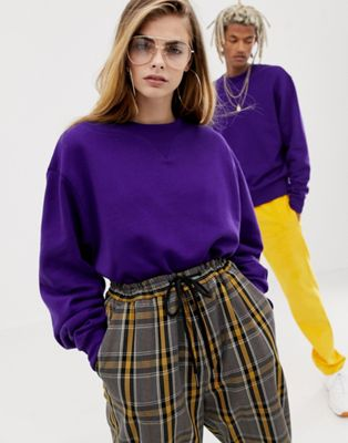 COLLUSION Unisex sweatshirt in purple