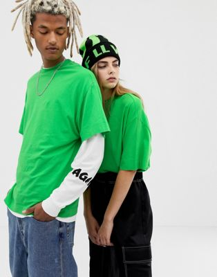 COLLUSION Unisex t-shirt in green