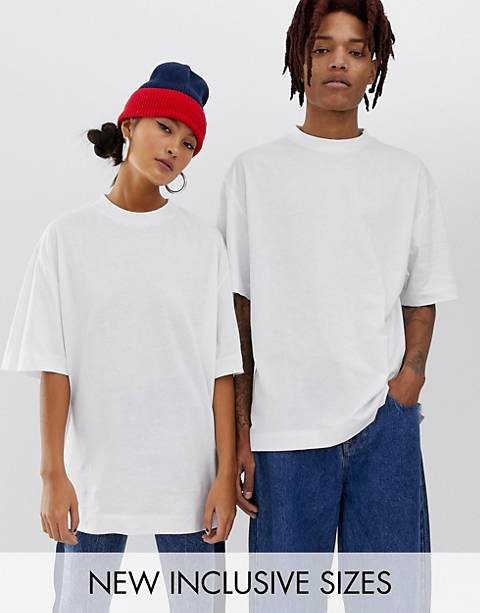 COLLUSION Unisex t-shirt in white