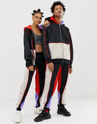 COLLUSION x Motocross - Unisexe - Pantalon de jogging color block