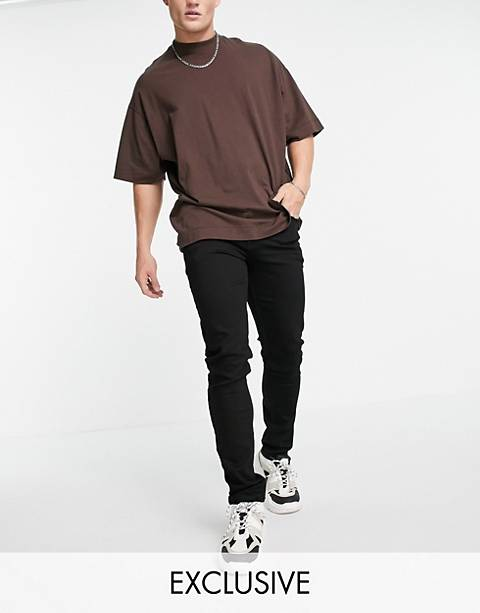 COLLUSION x001 skinny jeans in black