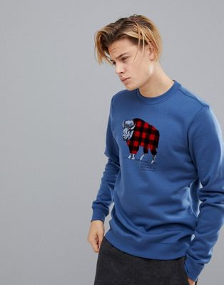 Columbia - Check The Buffalo sweatshirt in marineblauw