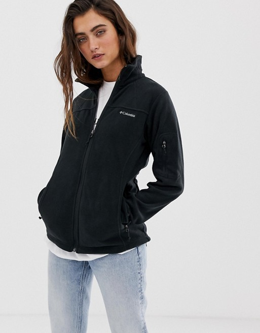 Image 1 of Columbia Fast Trek II fleece jacket in black