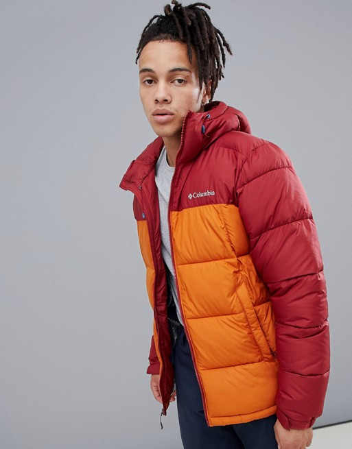 Image 1 of Columbia Pike Lake Hooded Jacket in Red