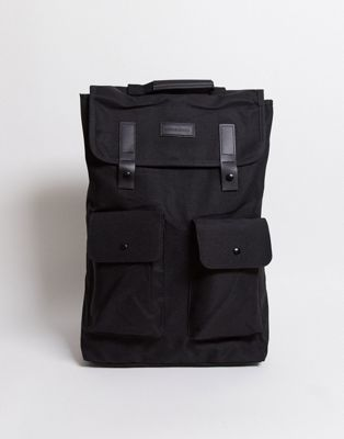 Consigned Twin Pocket Backpack In Black