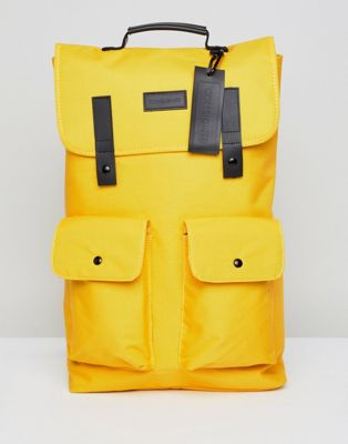 Consigned Twin Pocket Backpack In Yellow