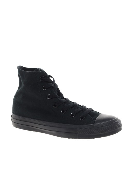 Converse All Star Black Mono High Top Trainers