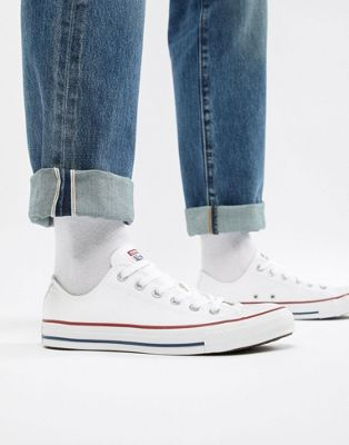 Converse All Star Ox Plimsolls In White M7652