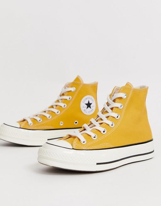 Converse Chuck '70 Hi Sunflower Yellow sneakers