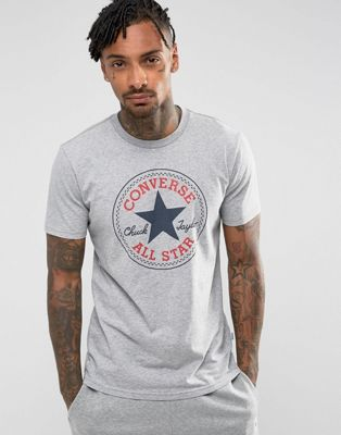 Converse Chuck Patch T-Shirt In Grey 10002848-A03