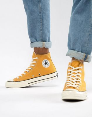 Converse Chuck Taylor All Star '70 Hi Sneakers In Yellow 162054C