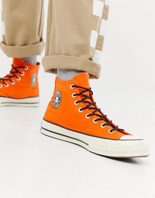 Converse – Chuck Taylor All Star '70 – Pomarańczowe wodoodporne wysokie tenisówki162351C