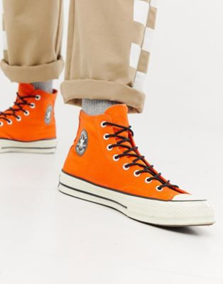 Converse Chuck Taylor All Star '70 waterproof Hi sneakers in orange 162351C