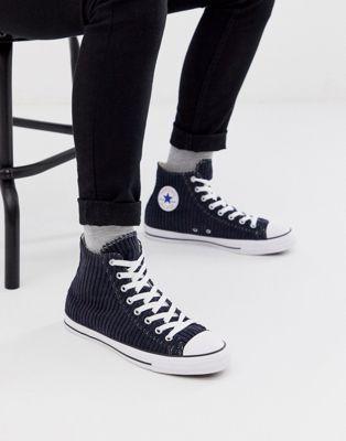 Converse - Chuck Taylor All Star - Corduroy gympen in marineblauw