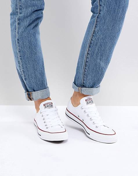 03433d7b35b638 Converse Chuck Taylor All Star core white ox sneakers