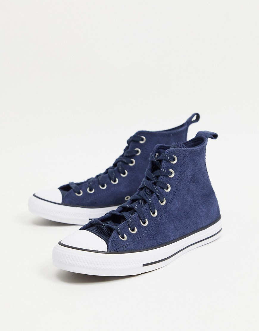 Converse Chuck Taylor - All Star Hi Mountain Club - Sneakers i marineblåt ruskind-Grøn