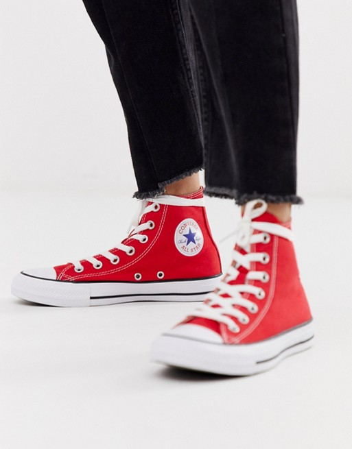 official photos f7c90 52b78 Image 1 of Converse Chuck Taylor All Star Hi Red trainers