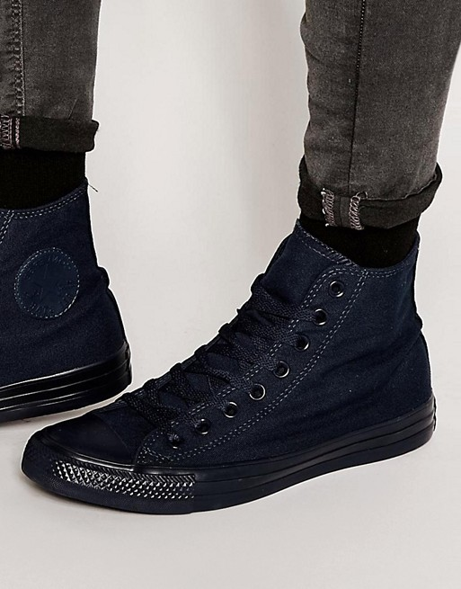 ed2469b2d1 Converse Chuck Taylor All Star Mono Canvas Hi-Top Plimsolls In Blue 150522F  | ASOS
