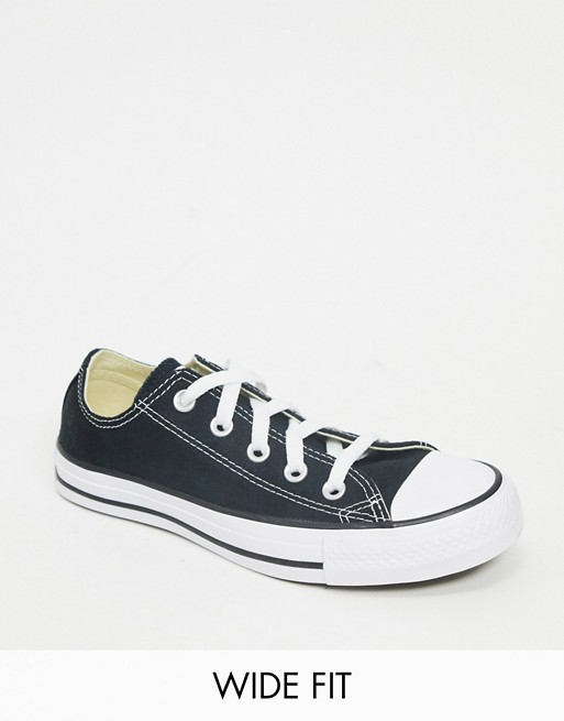 Converse - Chuck Taylor All Star Ox - Baskets pointure large - Noir Chaussures femme