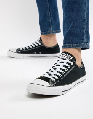 Image 1 of Converse chuck taylor all star ox sneakers in black