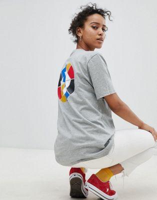 Bild 1 av Converse Cons Skate Grå t-shirt med tryckt logga på rygg