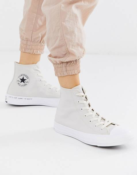 Converse cream Chuck Taylor Hi All Star Renew recycled trainers