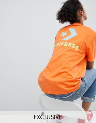 Converse Exclusive To ASOS T-Shirt In Orange