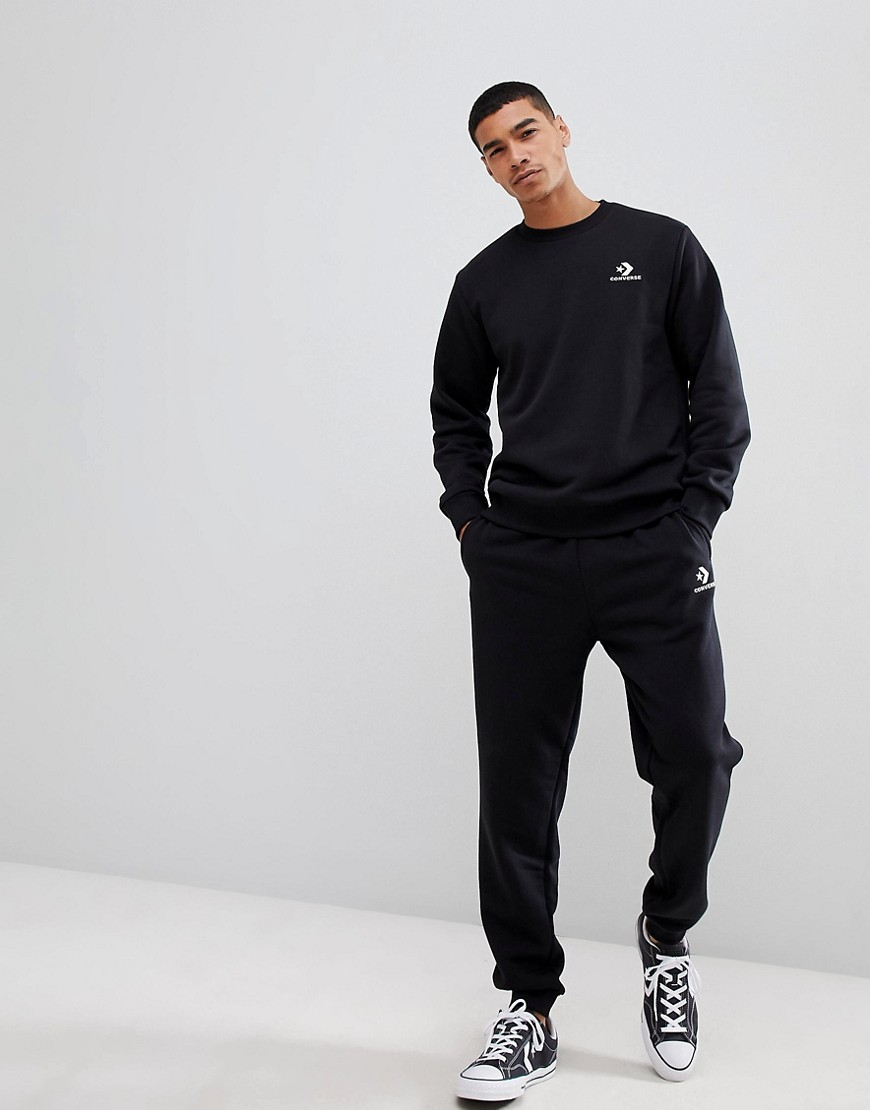 Converse Logo Sweat In Black 10008816 A01 by Converse