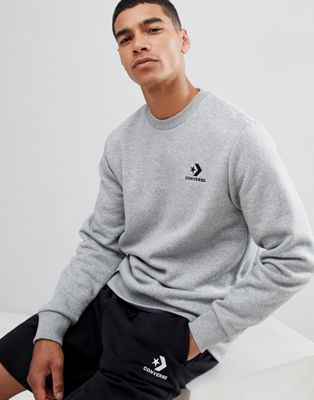 Converse Logo Sweat In Grey 10008816-A03