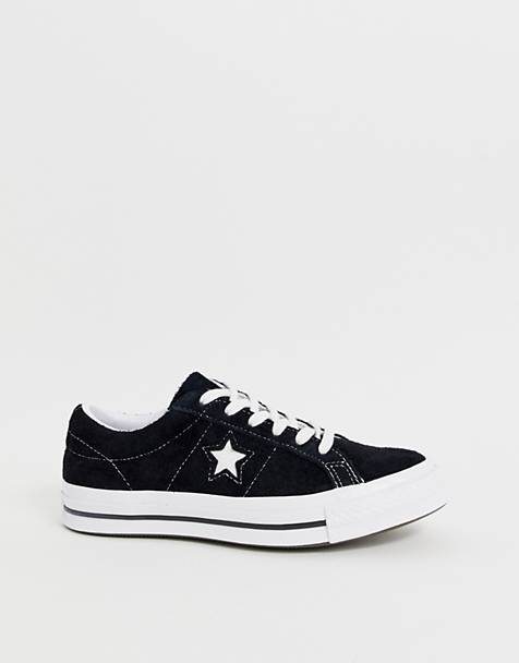 88c5d34d1335d2 Converse One Star black suede trainers. Converse One Star black suede  trainers. £65.00. Converse Chuck Taylor All Star Ox white trainers
