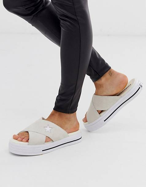 4bd25e3490ff6 Converse one star cream sandals