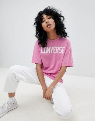Converse Premium - Essentials - T-shirt à logo - Rose