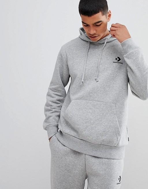 Image 1 of Converse Pullover Logo Hoodie In Gray 10008814-A03