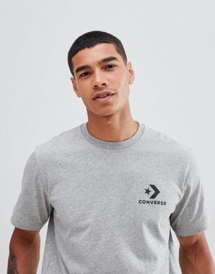Converse Small Logo T-Shirt In Grey