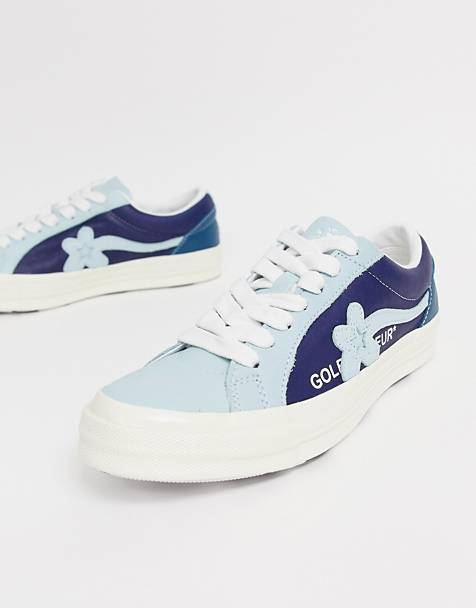 7622f8a3c4d6 Converse x Golf Le Fleur two tone One Star Ox plimsolls in blue