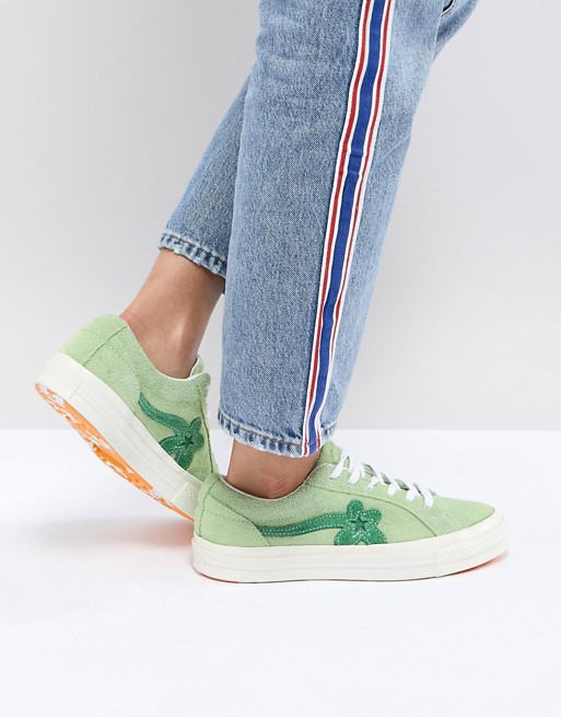 30736c13385639 Converse x Tyler The Creator Golf Le Fleur One Star Trainers in Green