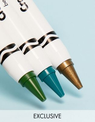 Crayola - Trio de crayons de couleur pour le visage - Sirène